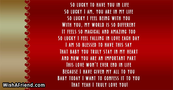 So Lucky To Have You In Life Poem For Boyfriend