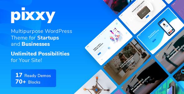 Pixxy v1.0.5 - App, Software & SaaS Startup WordPress
