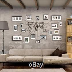 Geometric World Map Metal Decor Frames And Wires Wall Art Home
