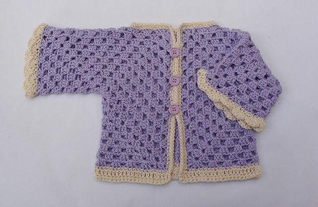 Crochet Hex Bebê Surpresa camisola de manga dobrada