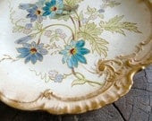 Antique Royal Bonn ceramic cabinet plate with flowers and gilded edges - SimonEtCie