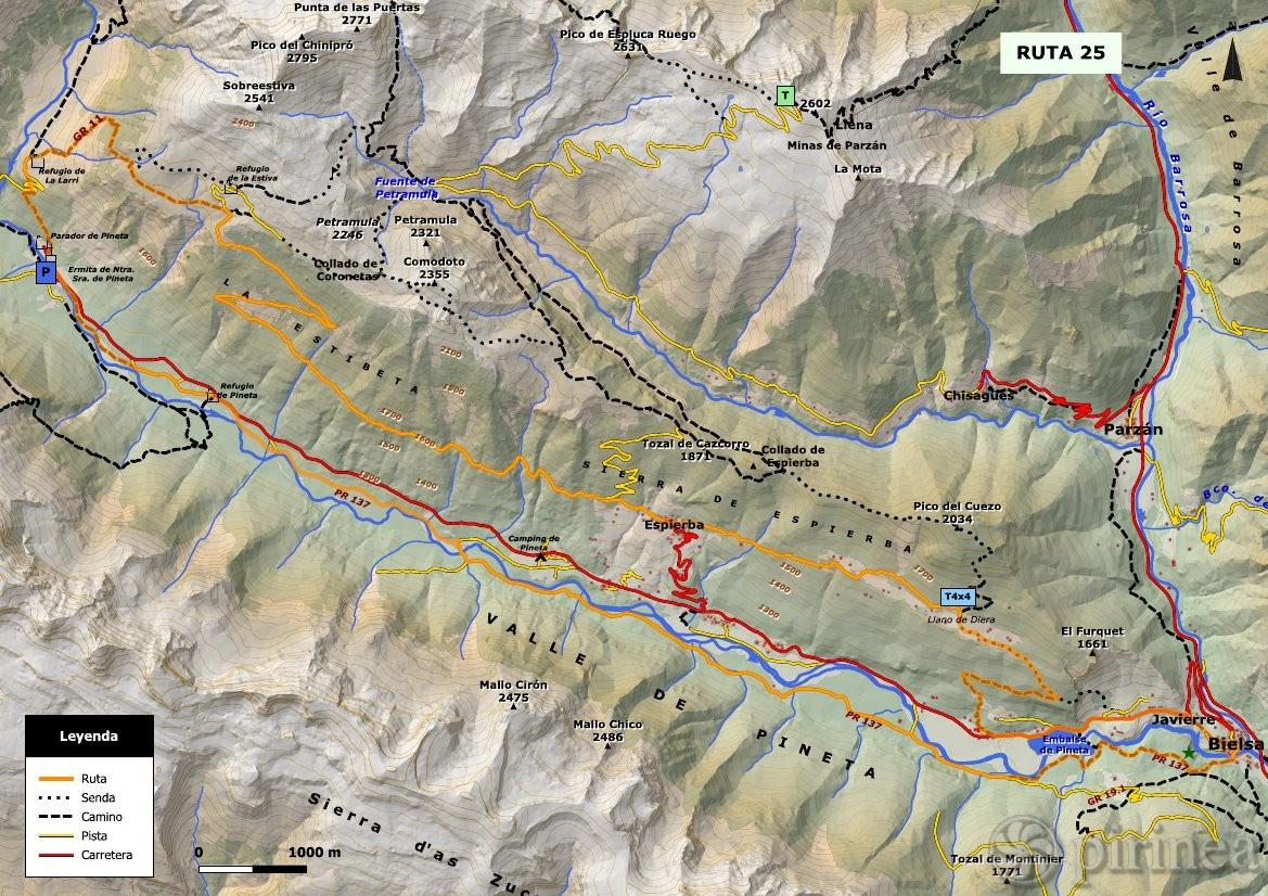 Valle De Pineta Mapa.Valle De Pineta Mapa Mapa