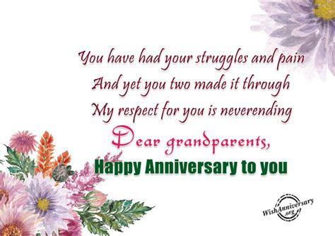 Anniversary Wishes For Grandparents   Wishes, Greetings