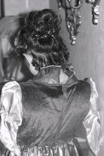 Sophia's Hair on Halloween