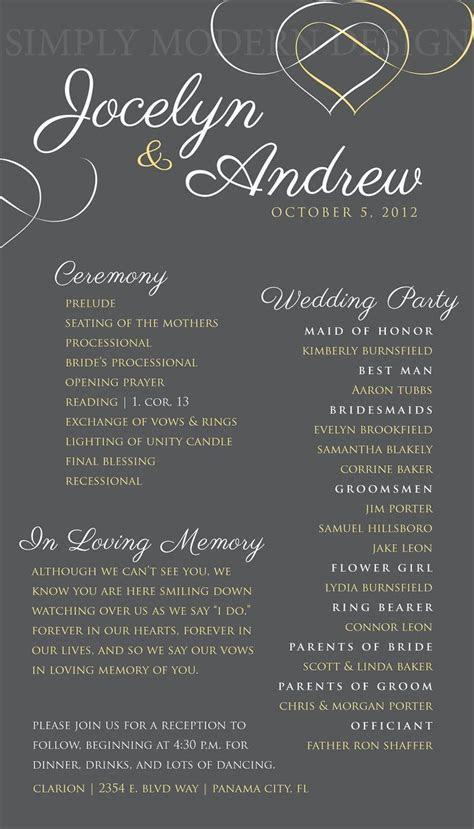 elegant wedding ceremony program, wedding signage