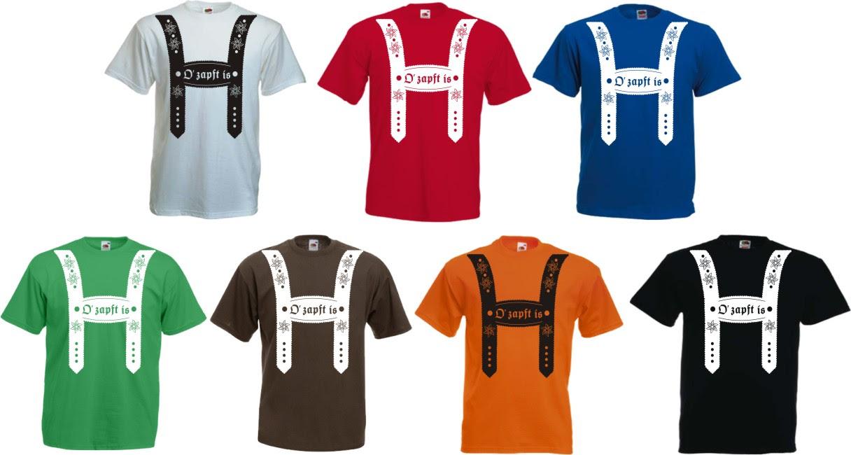 Oktoberfest Lederhose Herren T Shirt Volksfest Wiesn Bierzelt
