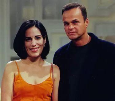 Gloria Pires e Kadu Moliterno em cena de Anjo Mau