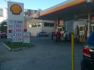Posto Shell (Foto: Henrique Mendes/ G1)