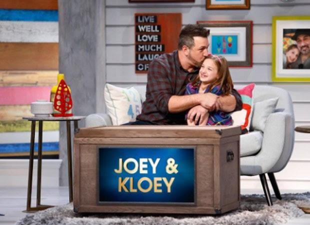 Joey Fatone e filha (Foto: Reprodução)