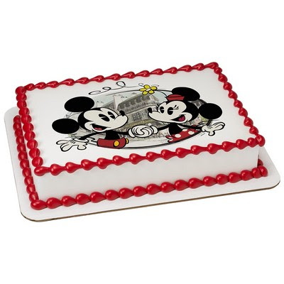 Disneys Mickey Minnie Mouse Edible Cake Topper