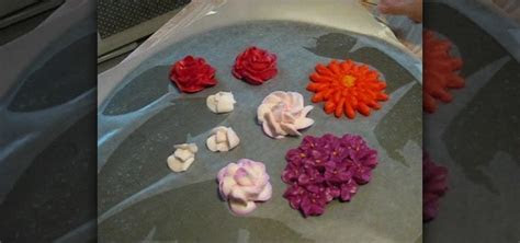How to Air dry flowers made from buttercream frosting to