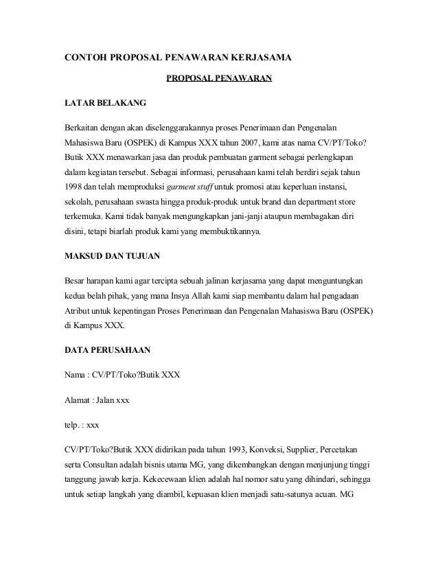 contoh proposal gathering perusahaan doc hontoh