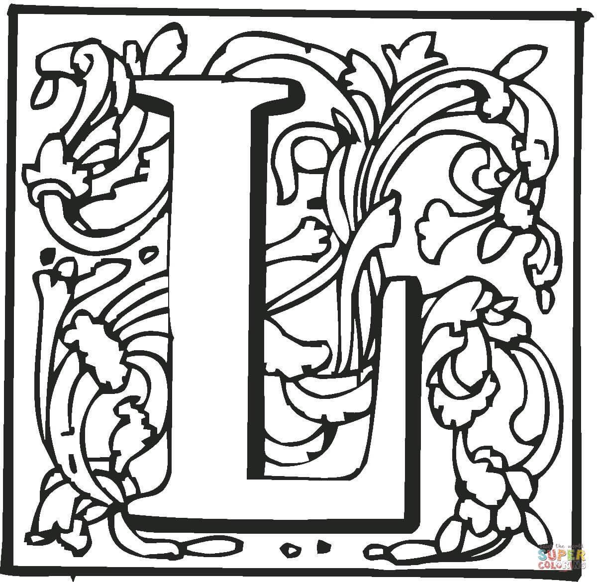 Dibujo De La Letra L Para Colorear Dibujos Para Colorear Imprimir