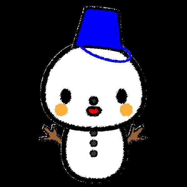 手書き風でかわいい雪だるまの無料イラスト商用フリー オイデ43