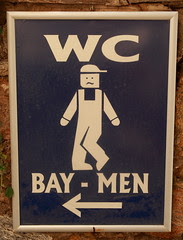 Sign for the Men's WC at Meryemana, Turkey