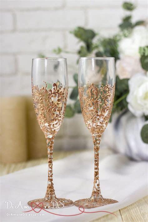 Best 25  Wedding toasting glasses ideas on Pinterest