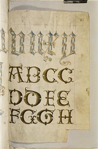 A scroll alphabet. c