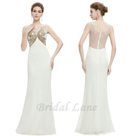 White and gold evening dresses for matric ball / matric