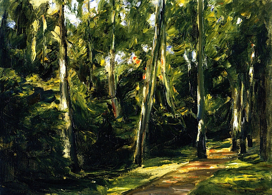 The Birch Avenue in the Wannsee Garden toward the Southwest Max Liebermann - 1924