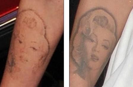O antes e o depois da tatuagem de Megan Fox