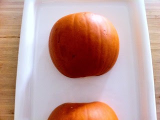 Pumpkin Halves Placed on Baking Tray