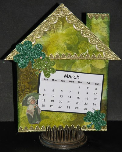 2012 Tech Calendar - March - Wax Paper Die Cut Resist 014