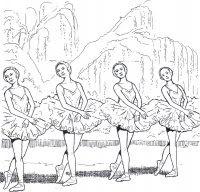 Disegni Da Colorare E Stampare Balletto Danza