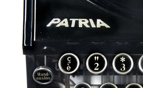 Patria portable typewriter