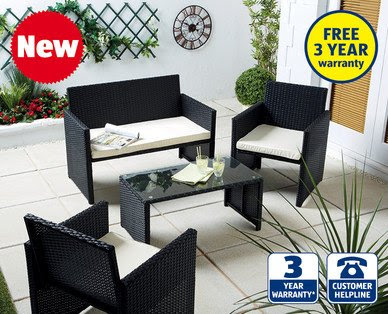 Rattan effect furniture set @ aldi - Thursday 19th £149.99 ...