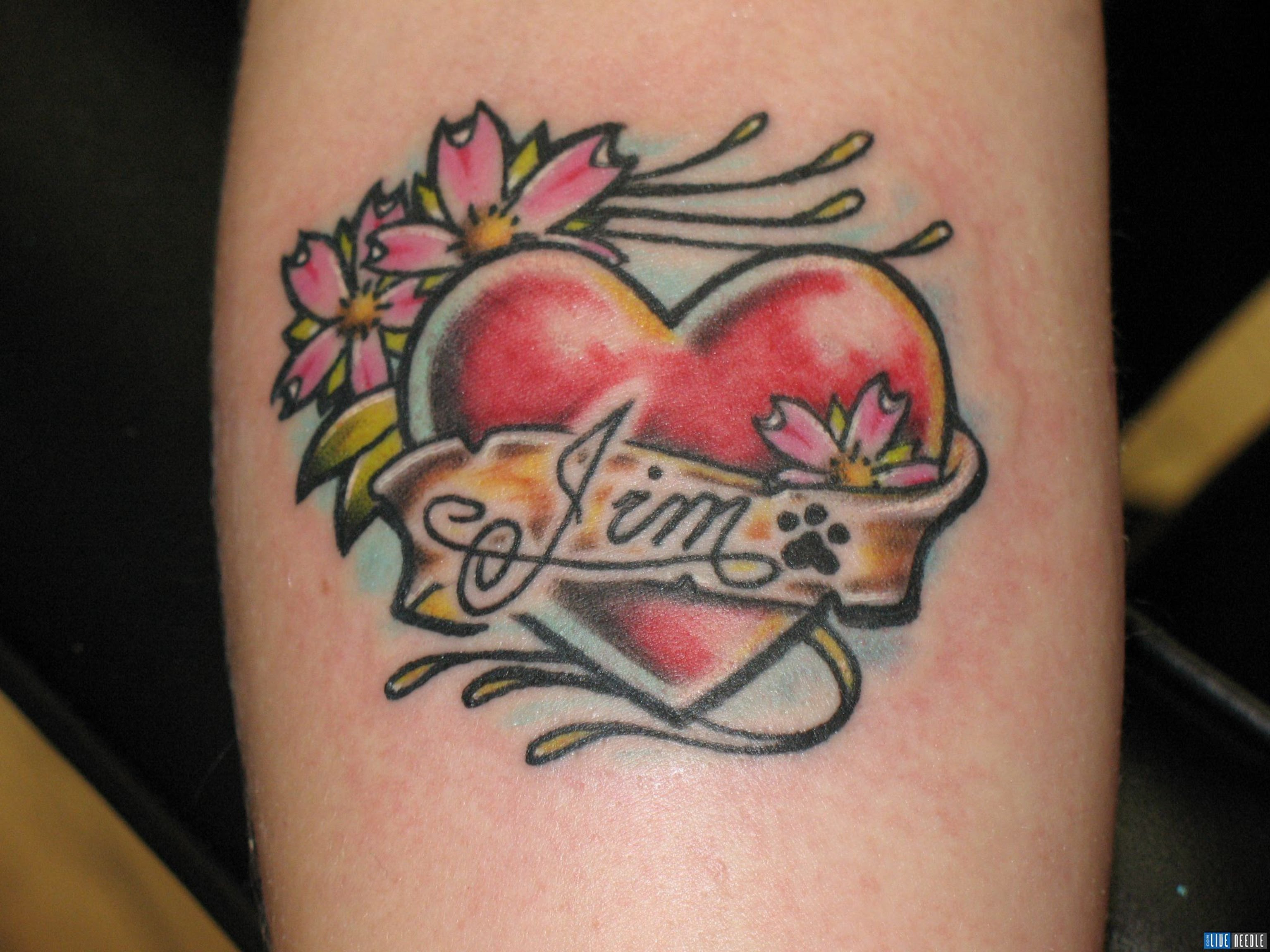 Crazy Tattoo Ink Heart Tattoos With Kids Names Name Tattoos