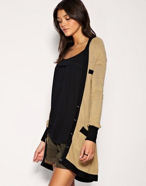 Image 1 of Vero Moda Contrast Trim Long Line Cardigan