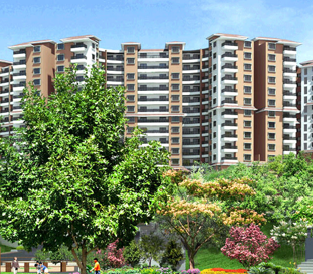 Paranjape Schemes' Forest Trails Bhugaon Highlands Apartments Elevation