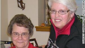 Sister Helen Skormisley, right.
