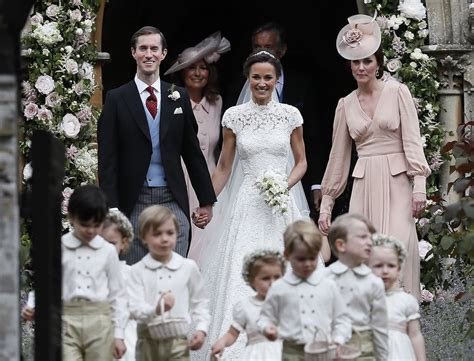 george  charlotte  pippa middletons wedding pictures