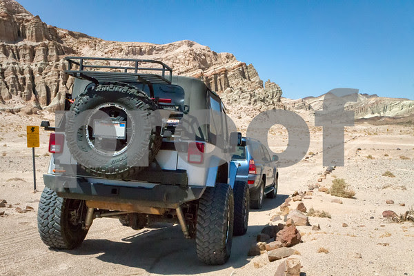 Exploring the Scenic Canyon jeep trail in Red Rock Canyon State Park, California