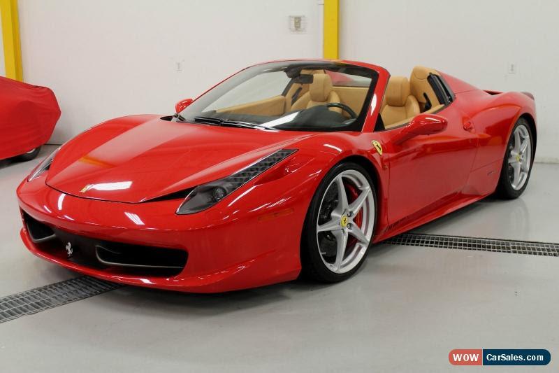 2013 Ferrari 458 for Sale in Canada