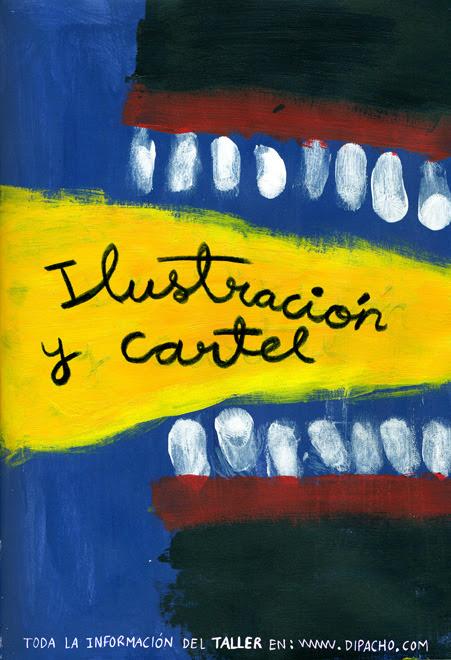 Afiche para taller de Ilustración y cartel, 2012