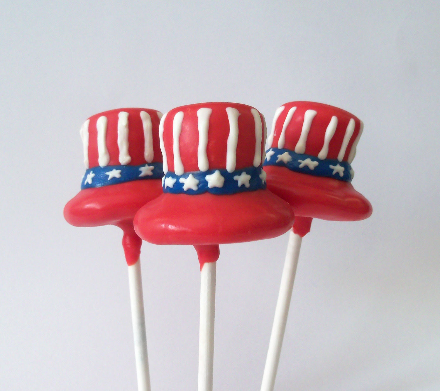 Uncle Sam Hat Cake Pop - 4th of July Party Pops ( Red White & Blue)