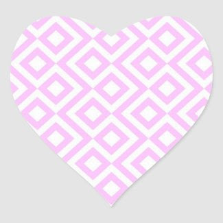 Pink and White Meander Stickers