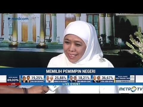 Ini Kata Khofifah Setelah Menang Quick Count Pilkada Jawa Timur