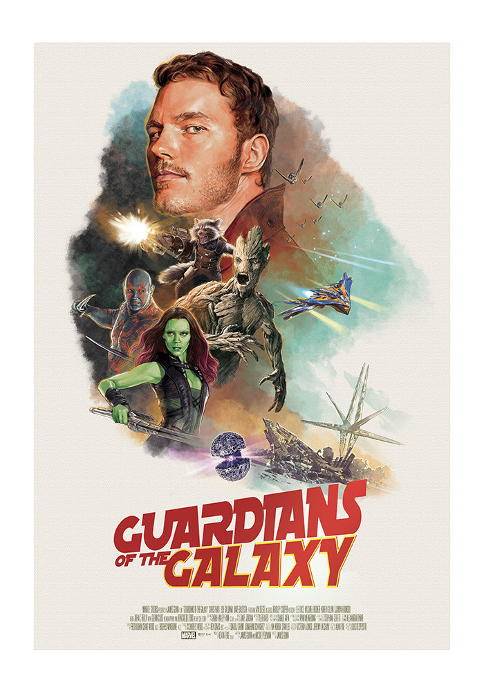 Guardians of the Galaxy Poster by Hans Woody