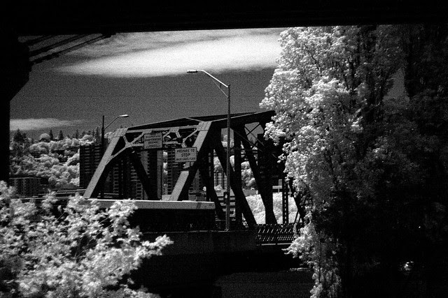hawthorne bridge, infrared