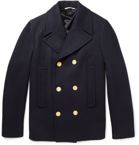 ValentinoDouble-Breasted Wool Peacoat