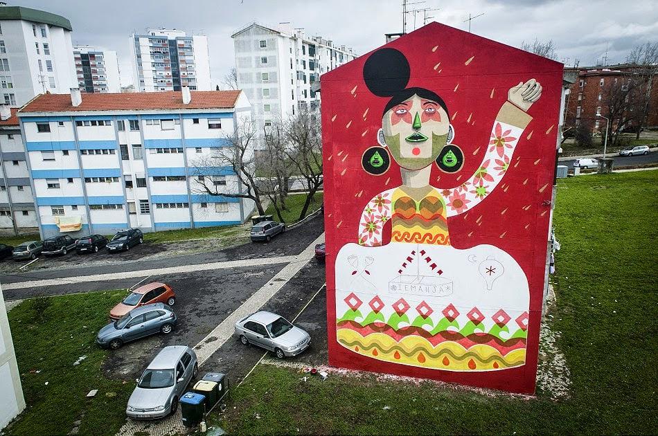 Finok Mural In Lisboa Stick2target Street Art Graffiti From