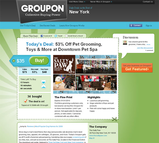 e business model and strategy groupon The groupon and other group buying sites' business model is working with local retail stores and restaurants with location-targeted coupons but national chains are also participating gap participated in a groupon promotion during summer of 2010 that generated over $10 million in sales in one day.