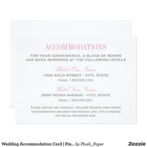 25  best ideas about Accommodations card on Pinterest