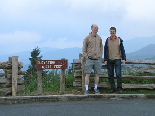 Tom and me on Mt. Mitchell, Blue Ridge Parkway, North Carolina