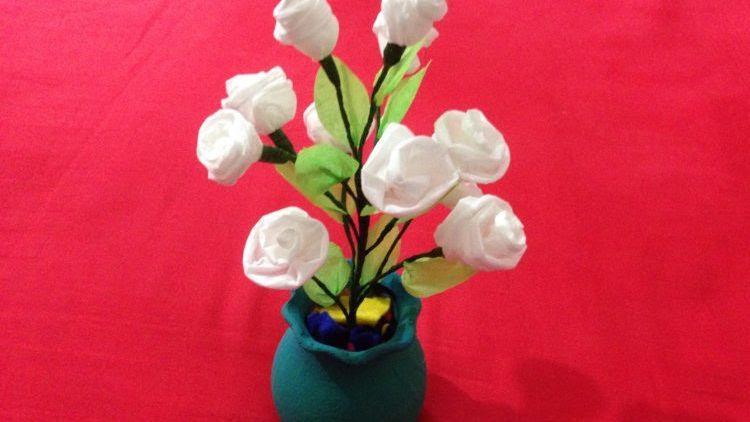 Kreasi Rangkaian Bunga Dari Tissue Amuslima