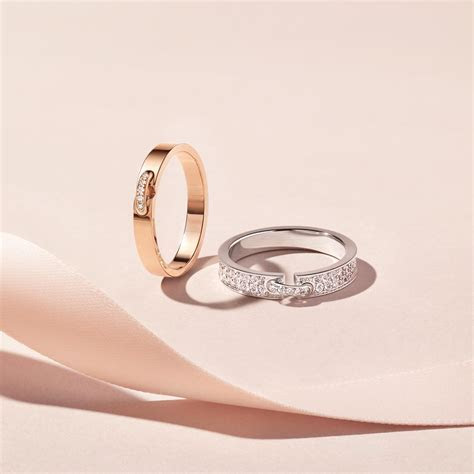 Évidence rose gold ring with diamonds   Chaumet   The