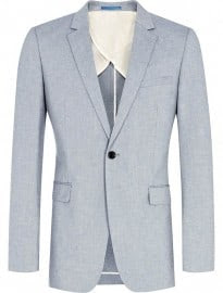 Reiss Irving B Fashion One Button Notch Lapel Jacket Airforce Blue